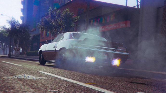Дым с колес