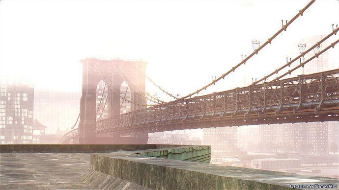 Бруклинский мост. Нью-Йорк.Вечером