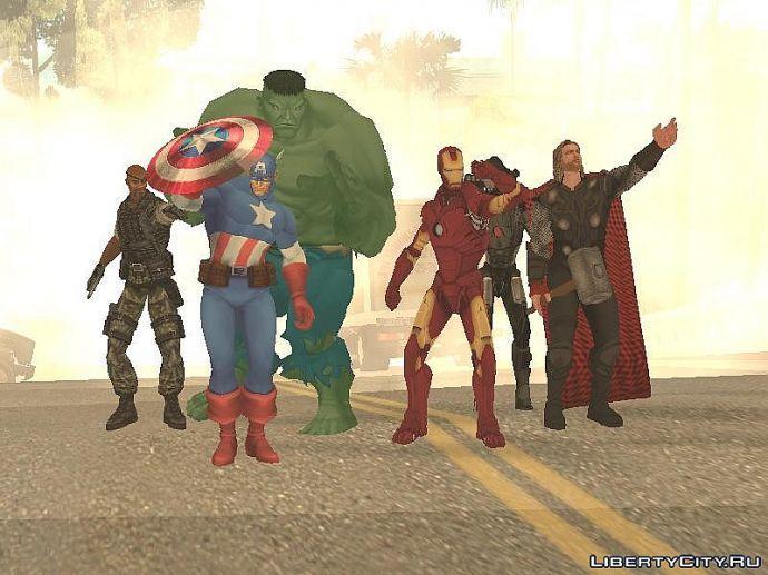 Мстители в GTA SA