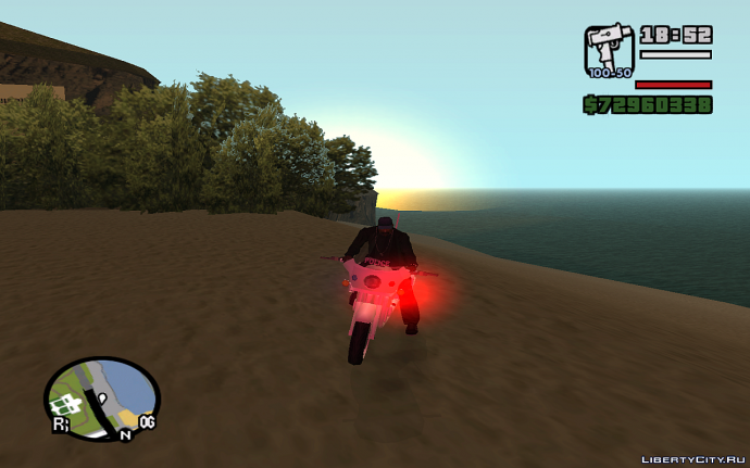 Полицейский мотоцикл в GTA SA