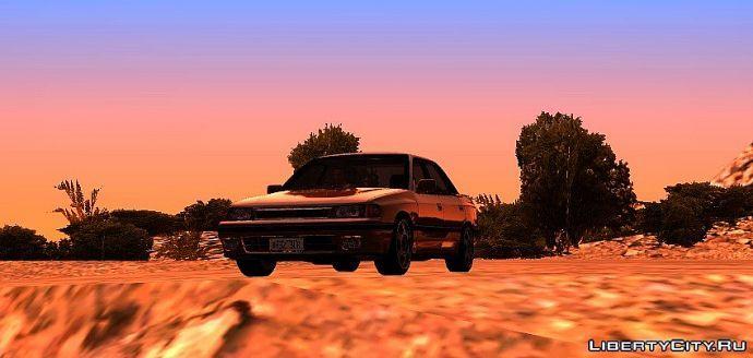 Закат и Subaru Legacy 1991