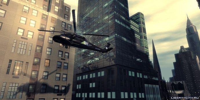 Красивый вертолёт из GTA IV.