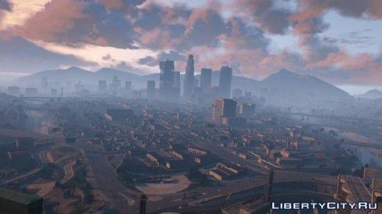 Вид на Лос Сантос с высоты птичьего полёта
