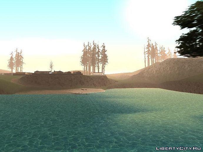 Восход в лагуне рыбака