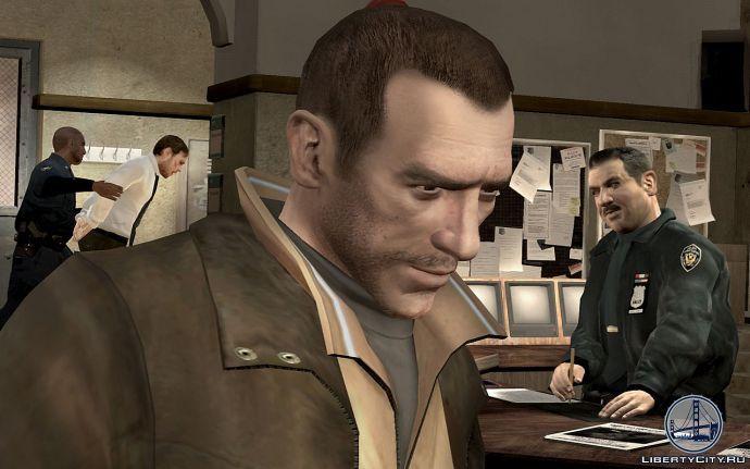 Нико в полицейском участке