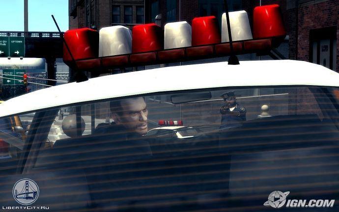 В полицейской машине