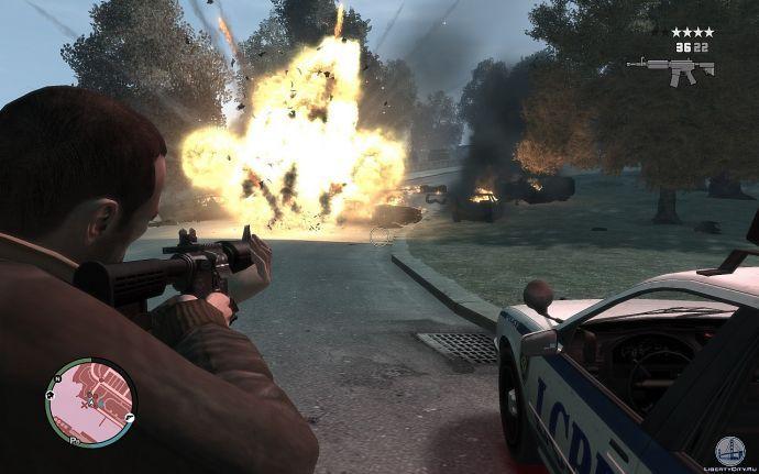 Большой взрыв в GTA 4