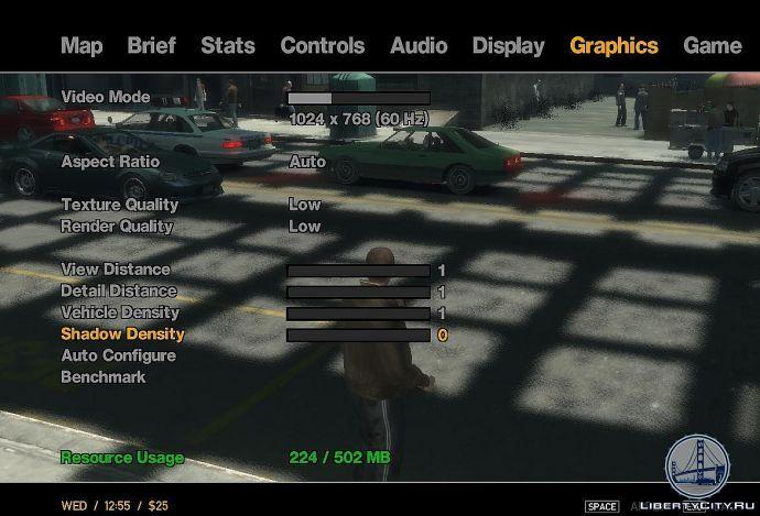 Настройки графики в GTA 4