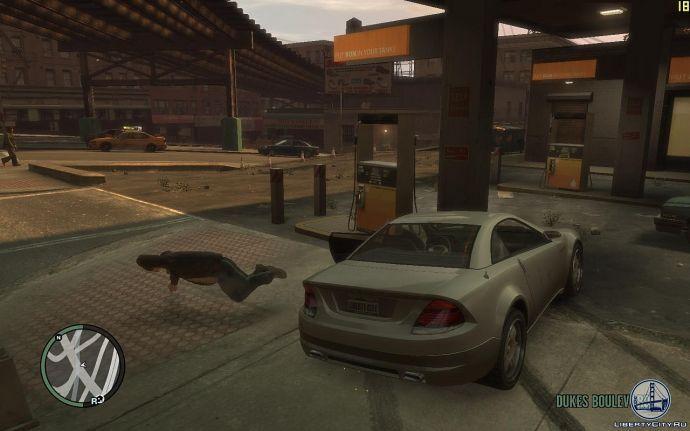 Прыжок из машины на ходу