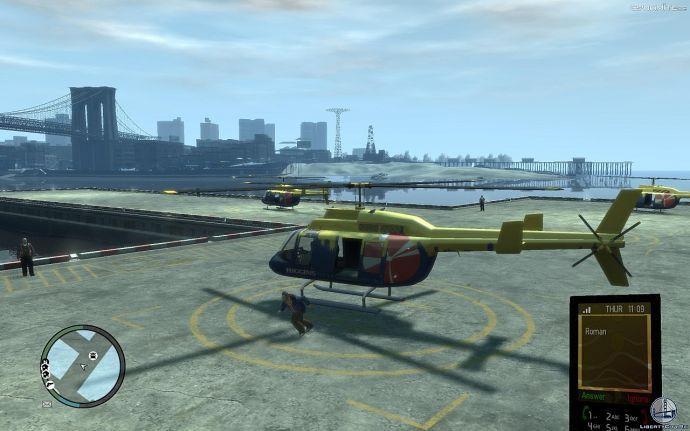 Вертолет на взлете