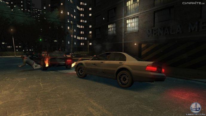 Загорелись колеса в GTA 4