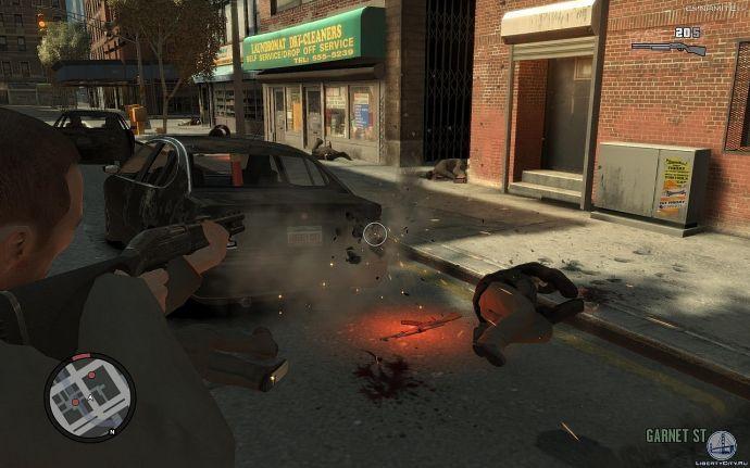 Расстрел фар в GTA 4
