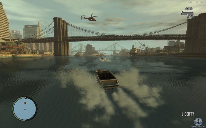 Скоростная лодка в GTA 4
