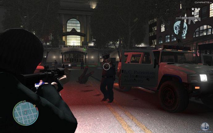 Полицейский хаммер в GTA 4