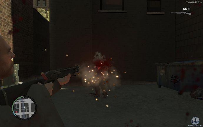 Брызги крови в GTA 4