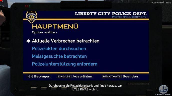 Полицеский комьютер в GTA 4