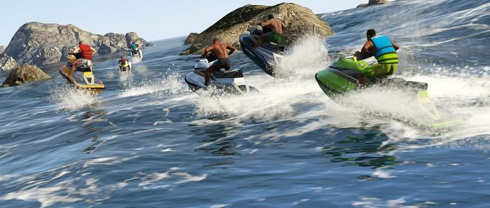 Гонка на водных скутерах