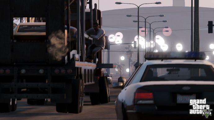 Трюки на тягаче в GTA 5