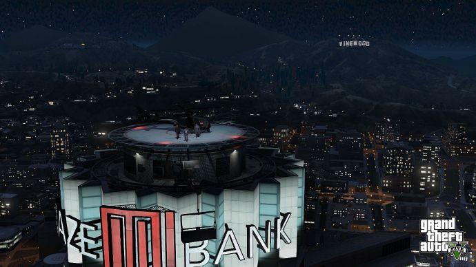 На крыше банка