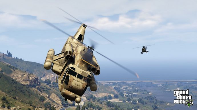 Военный вертолет в GTA 5