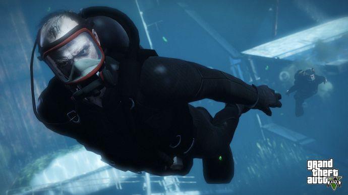 Тревор под водой