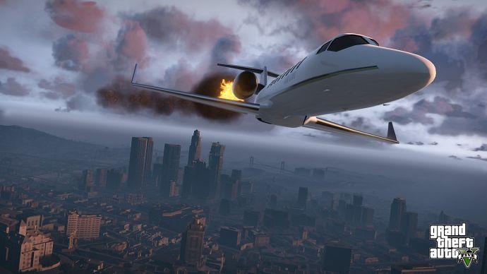 Подбитый самолет