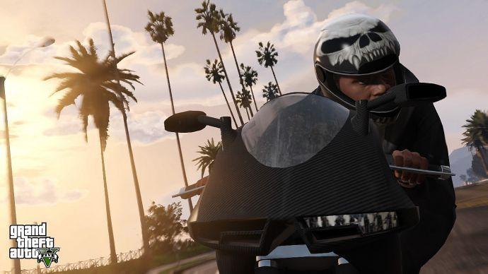 Франклин на мотоцикле