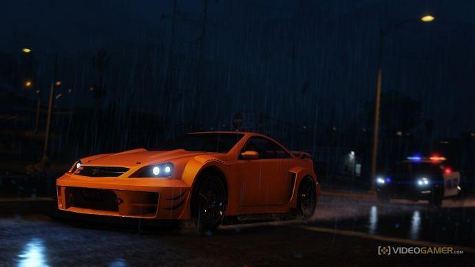 Погоня ночью в дождливую погоду
