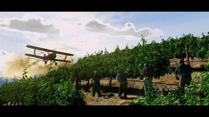 GTA 5: самолет над плантацией