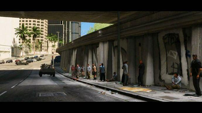 GTA 5: под мостом