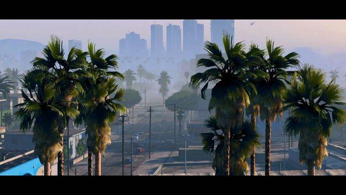 GTA 5: пальмы