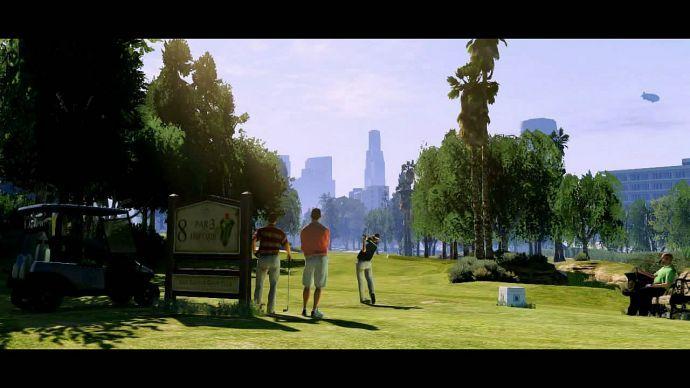GTA 5: игра в гольф