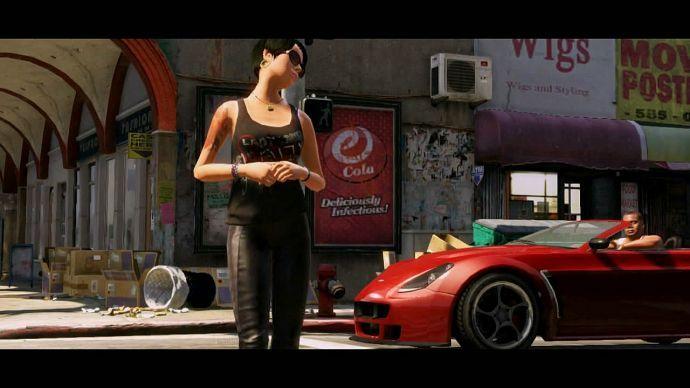 GTA 5: привлекательная девушка