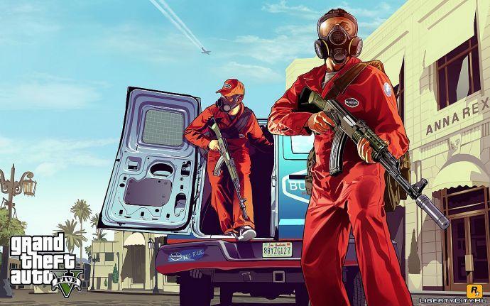 Первый арт GTA 5: борьба с вредителями