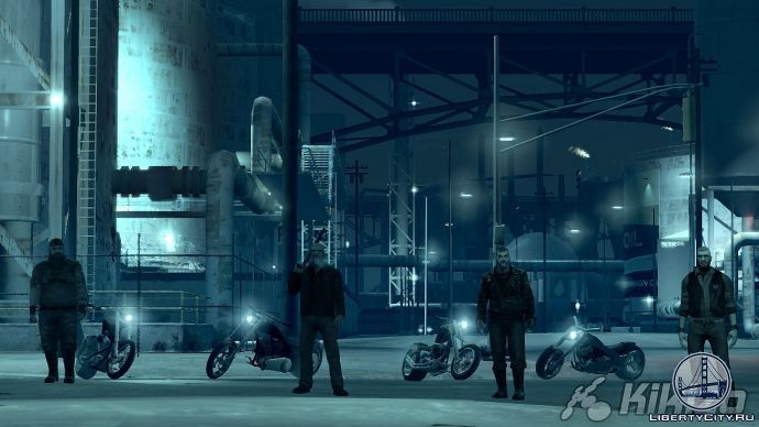 Байкеры и их мотоциклы