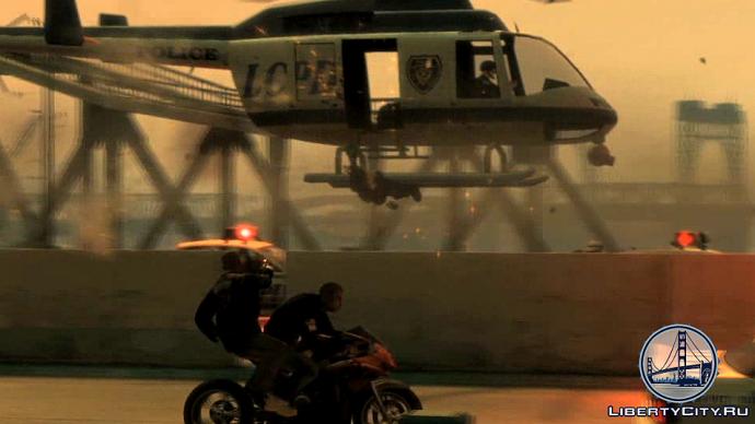 Байкеры против вертолета