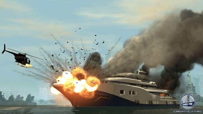 Buzzard расстреливает яхту