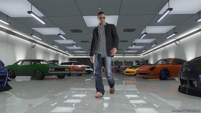 Огромный гараж