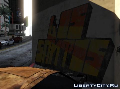 Граффити в стиле первой Grand Theft Auto