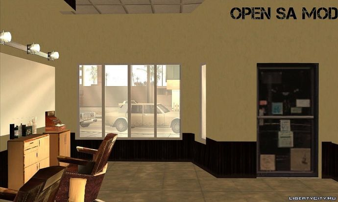 Open SA: Barbershop (Интерьер)