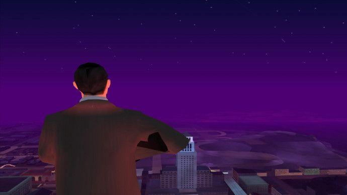 Человек и ночной город