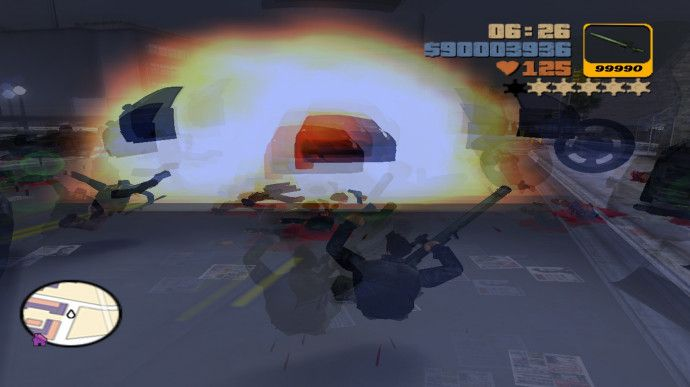 Взрыв в GTA III