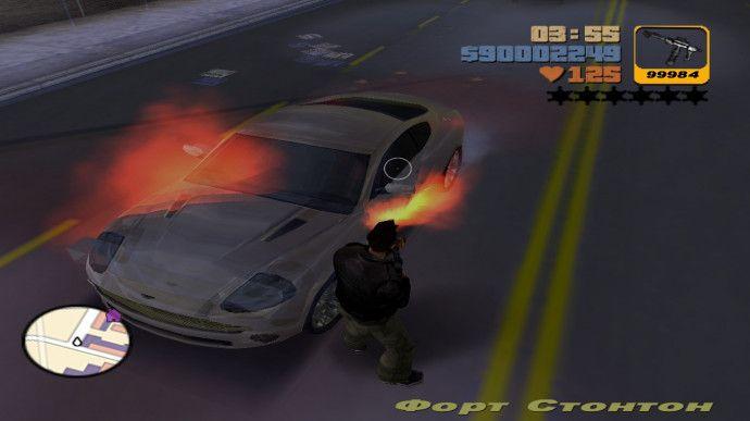 Машина с огоньком