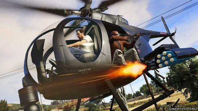 В вертолете