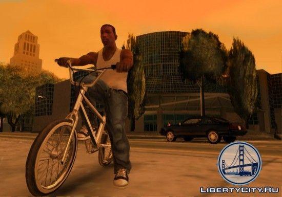 CJ на велосипеде