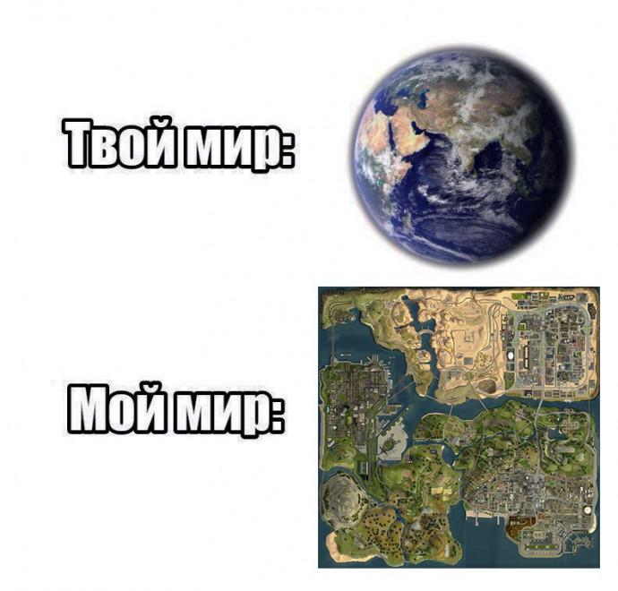 Твой мир vs мой мир