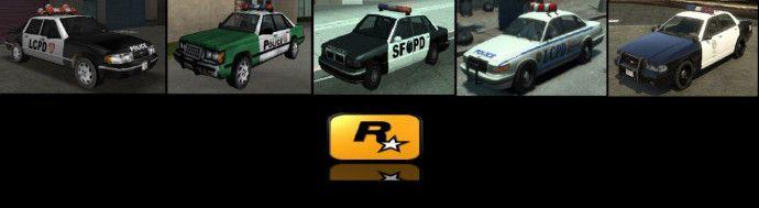 Эволюция полицейских автомобилей в GTA