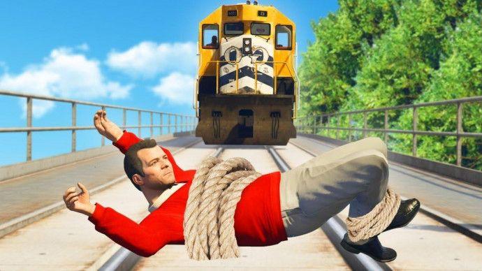 Под поезд