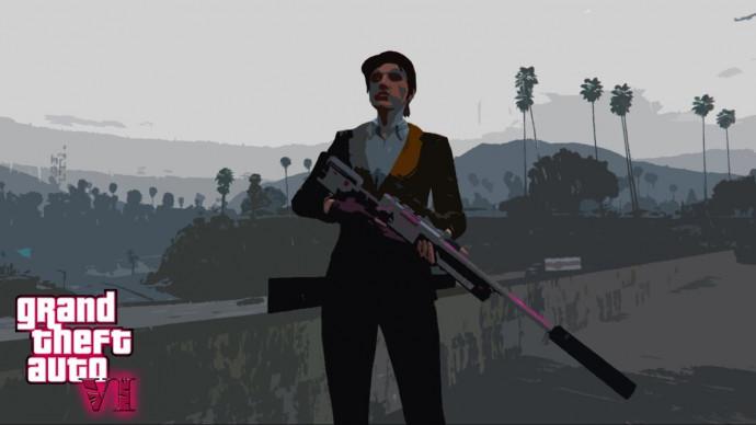 Девушка GTA VI fake