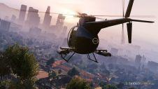 Вертолет на восходе солнца
